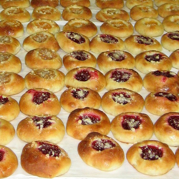 Czech Kolace or Sweet Rolls