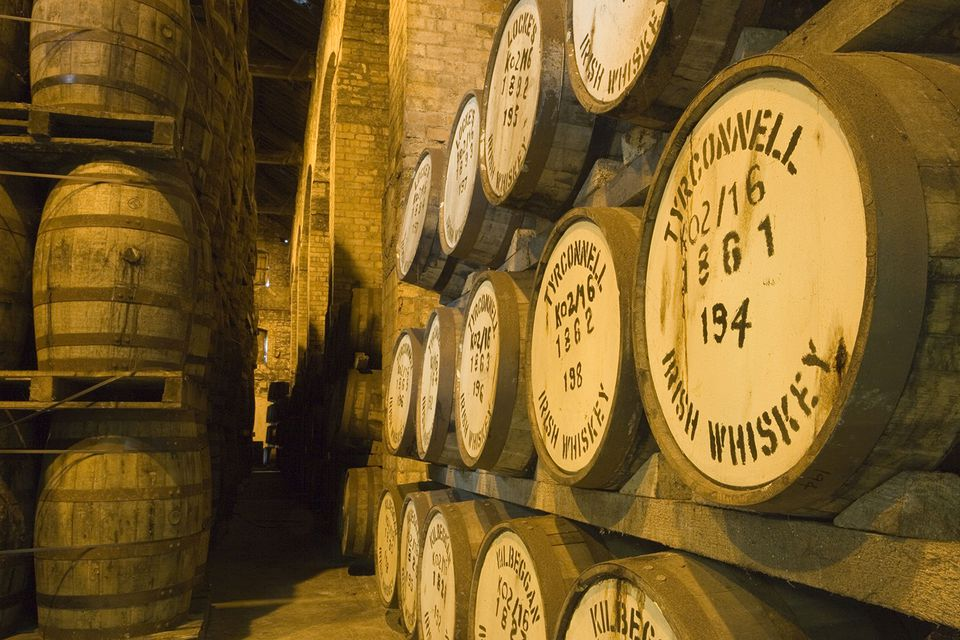 Irish Whiskey Barrels, Tyrconnell Irish Whiskey, Locke's Distillery Museum, Kilbeggan, County Westmeath, Ireland