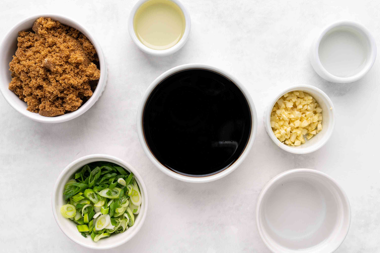 Ingredients for teriyaki marinade