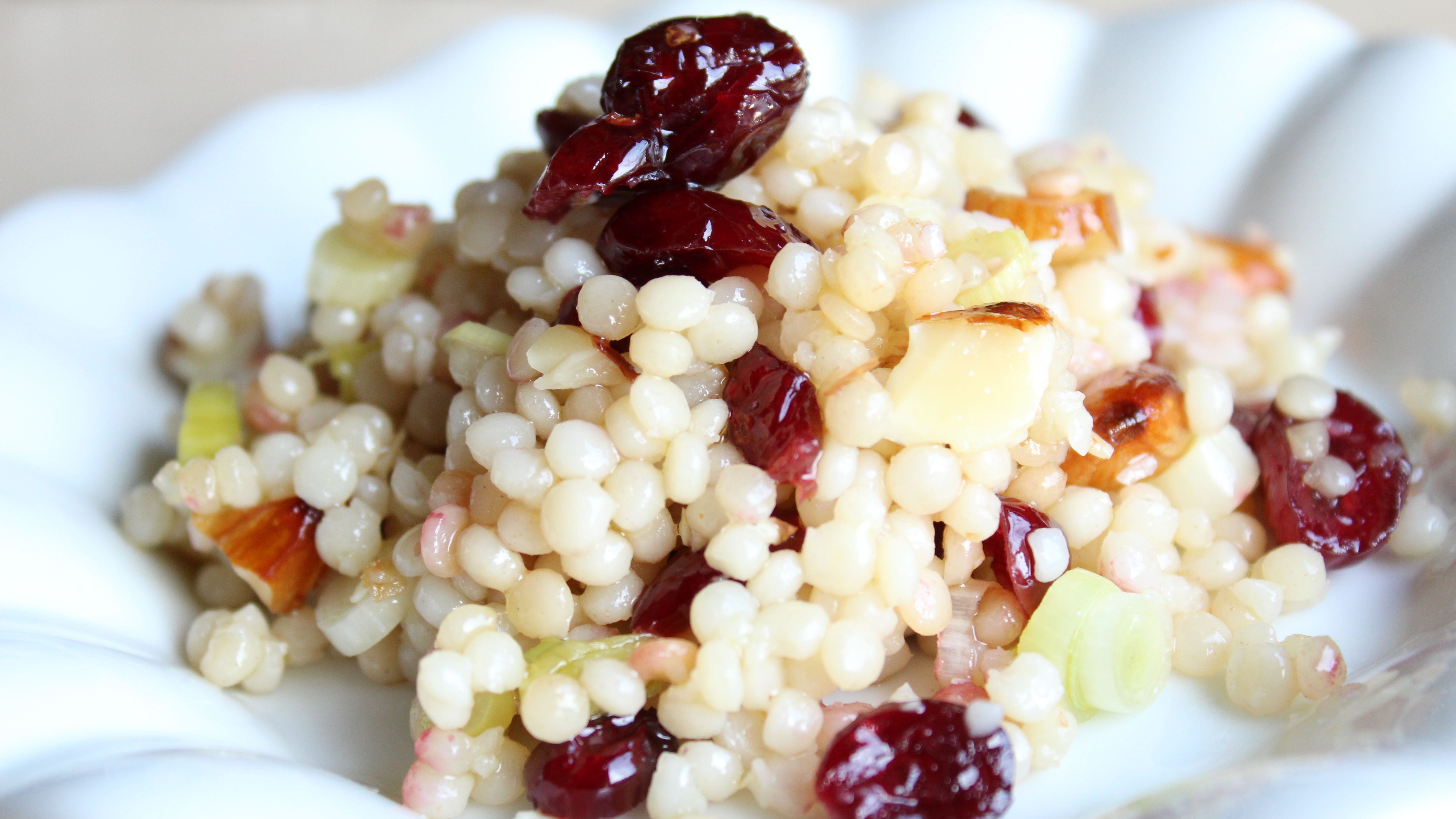 Israeli Couscous With Dried Cranberries And Almonds Recipe