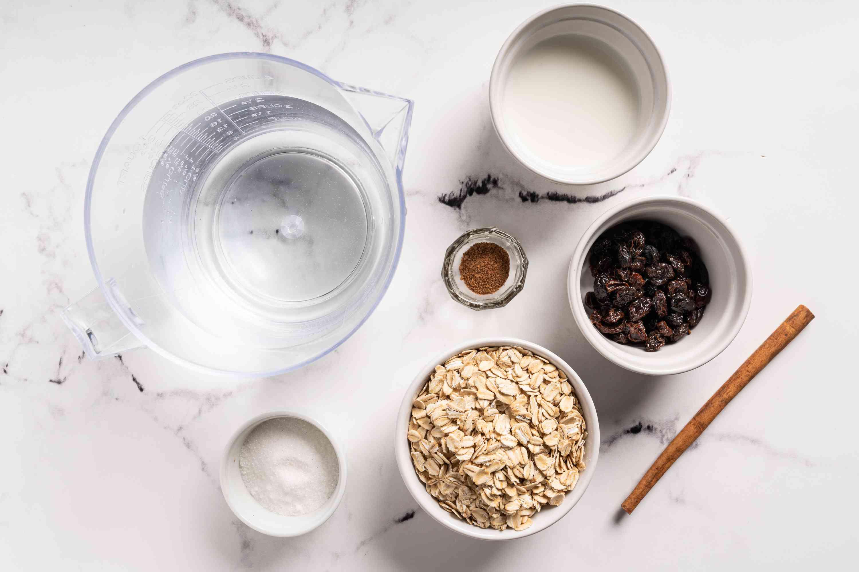 Caribbean Oat Porridge ingredients