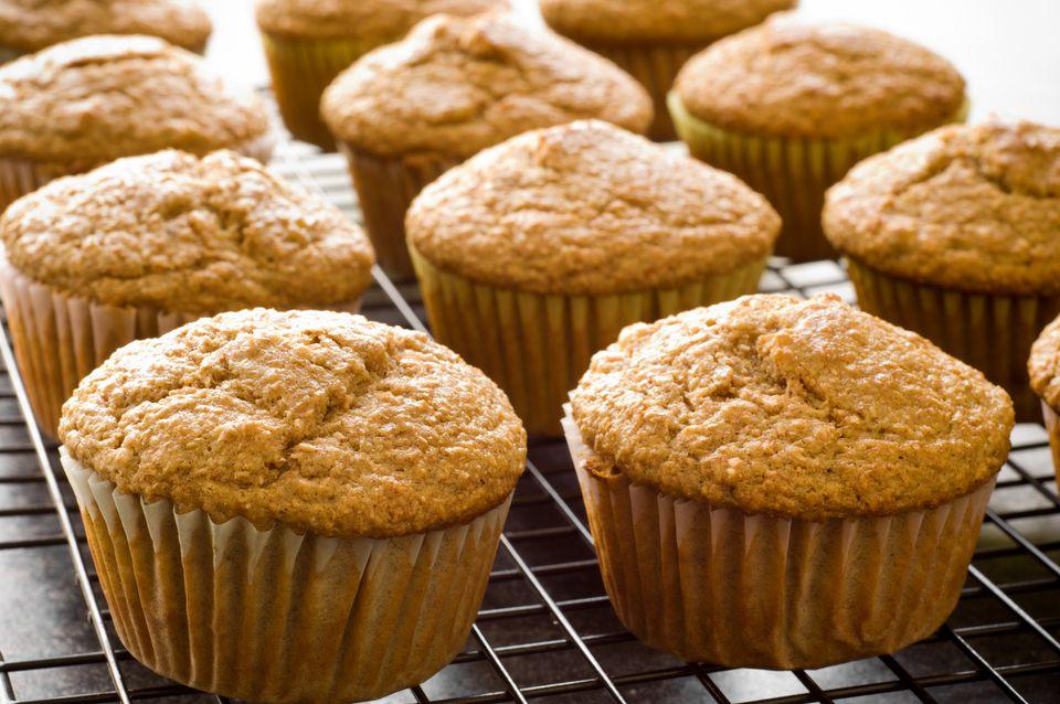 Muffins veganos de plátano y coco