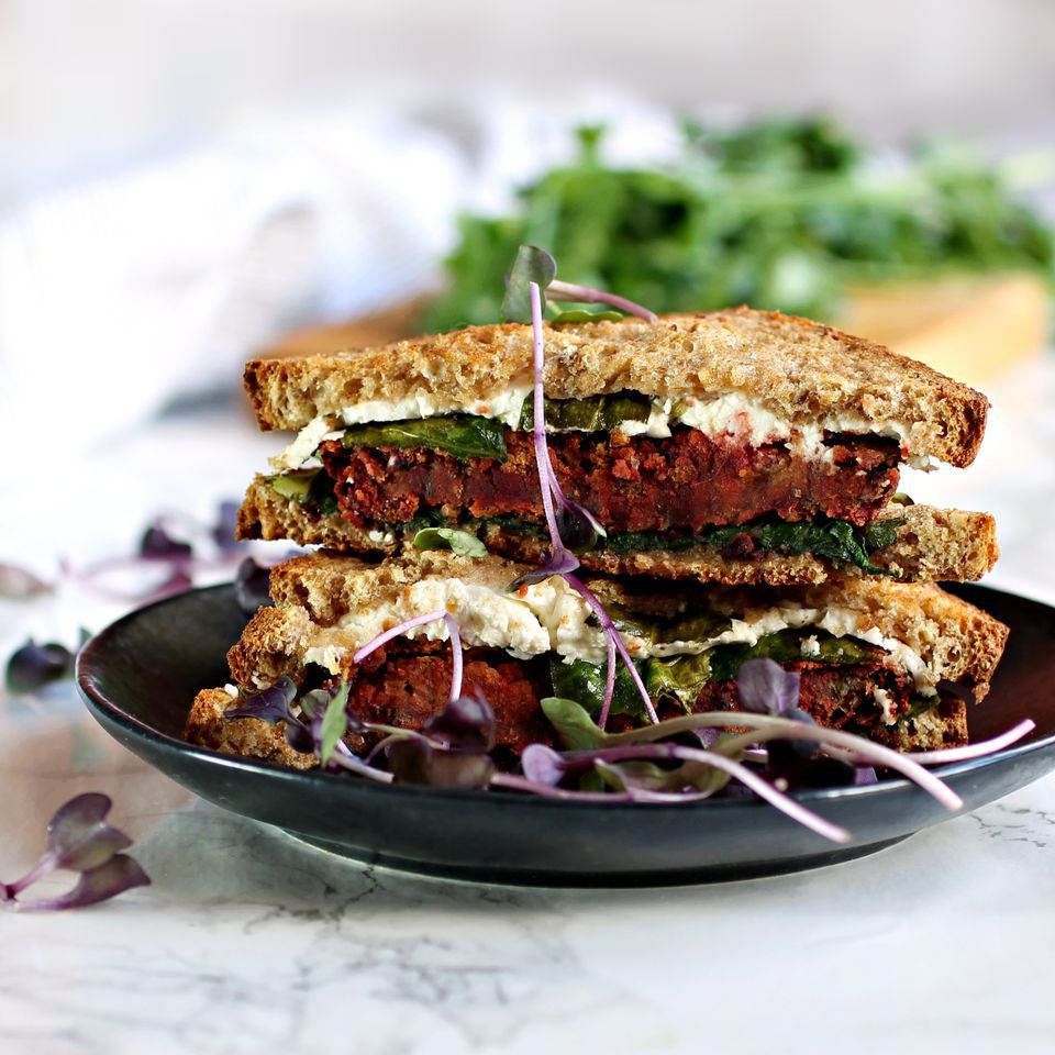 Grilled Cheese With Beets and Chickpeas