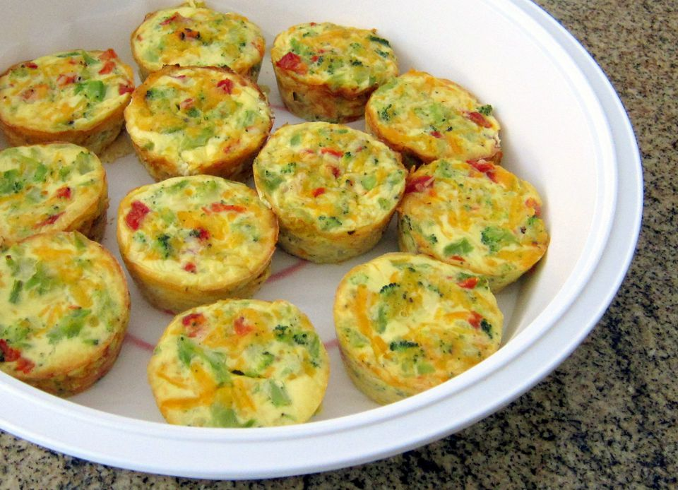 Broccoli Mini Quiches, Crustless
