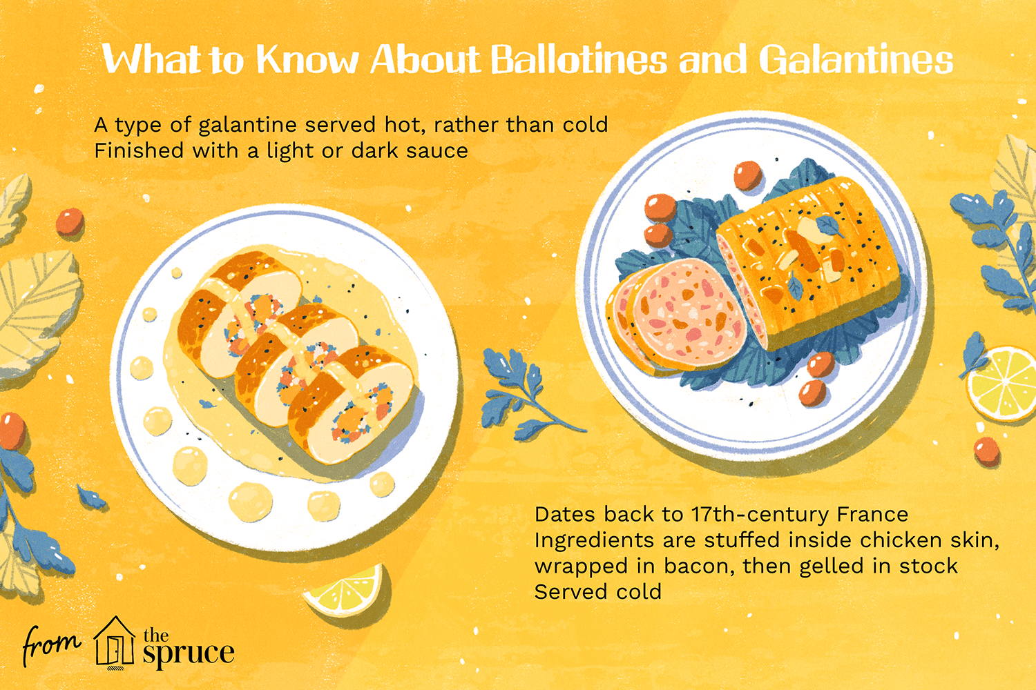the difference between ballotines and galantine