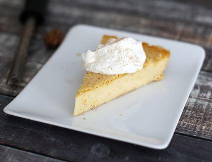 no-crust custard pie