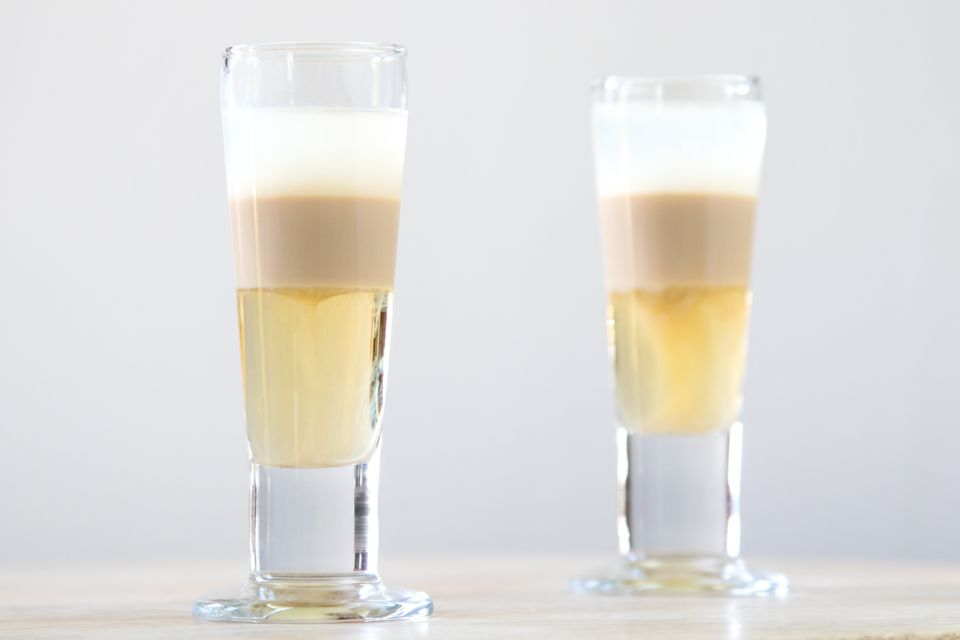 Nutty Fix (aka Russian Qualude) Layered Shot Drink