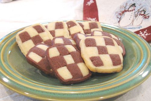 shortbread style german christmas cookie recipes how to make black and white checkerboard cookies