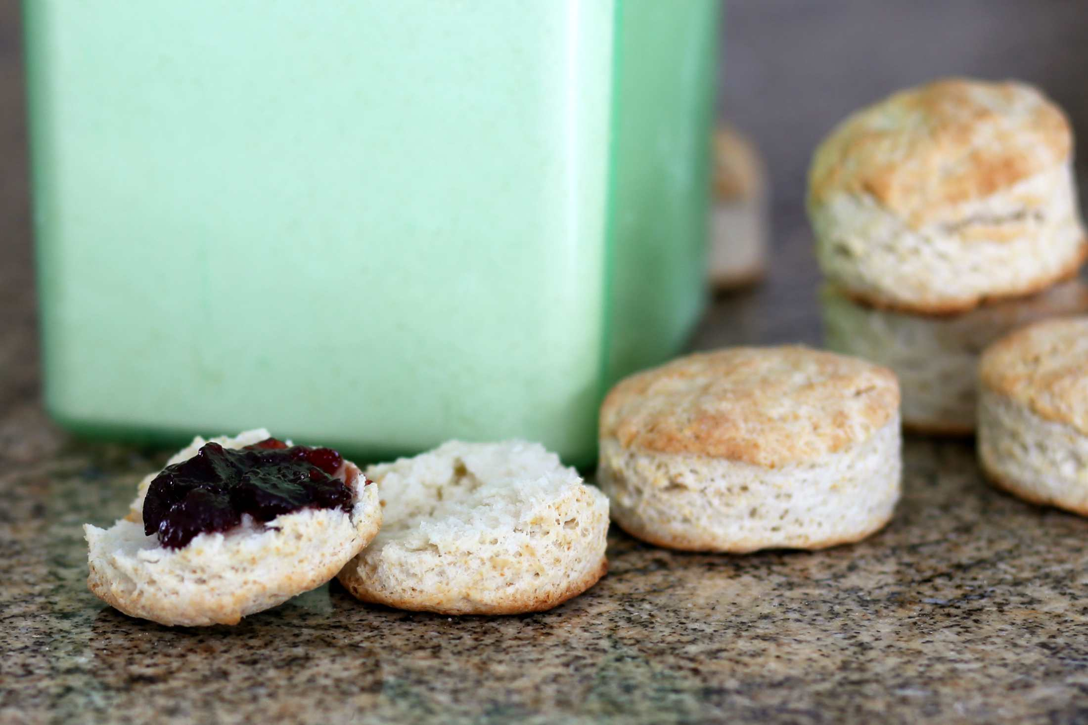 Biscuits with jelly