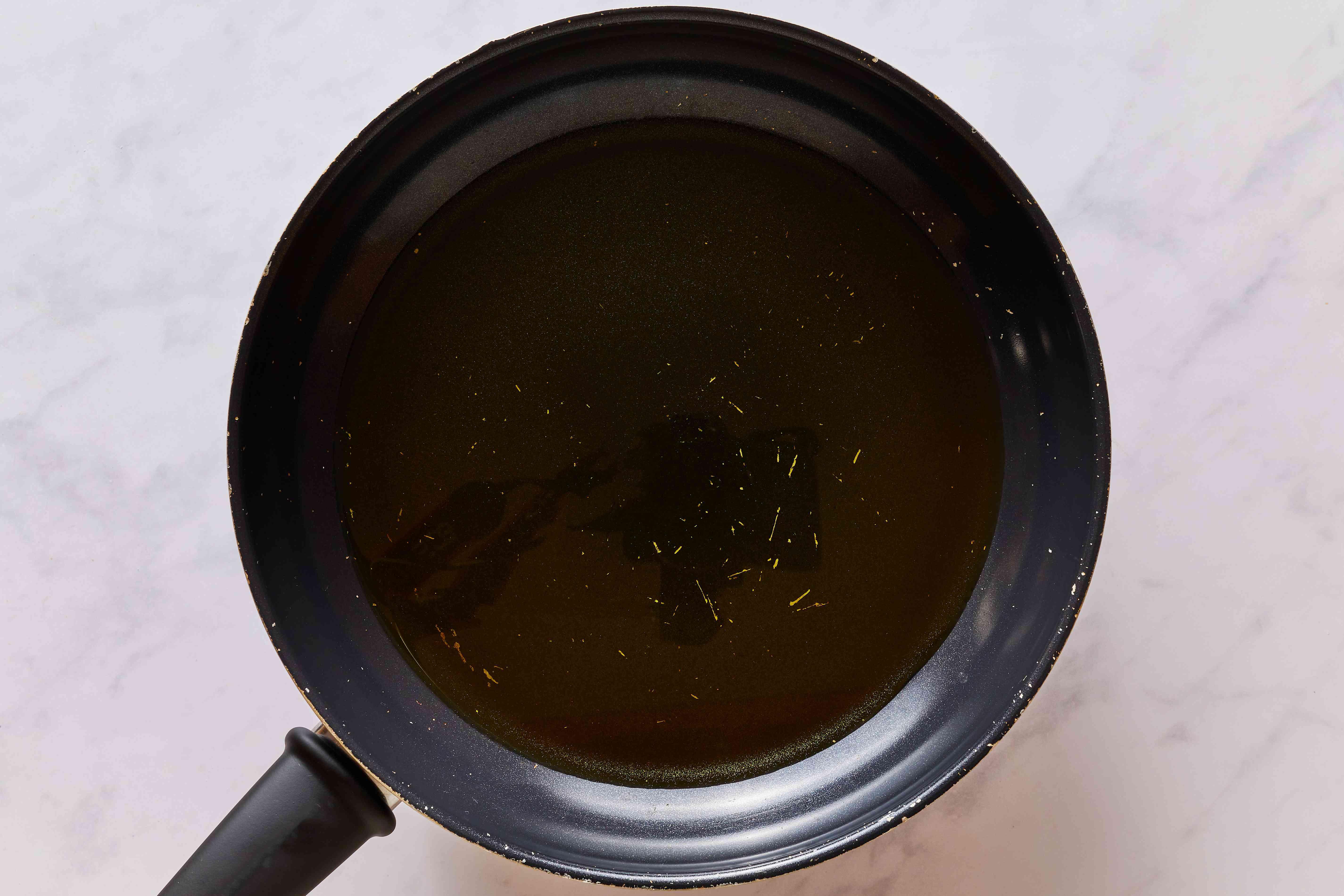 oil in a frying pan