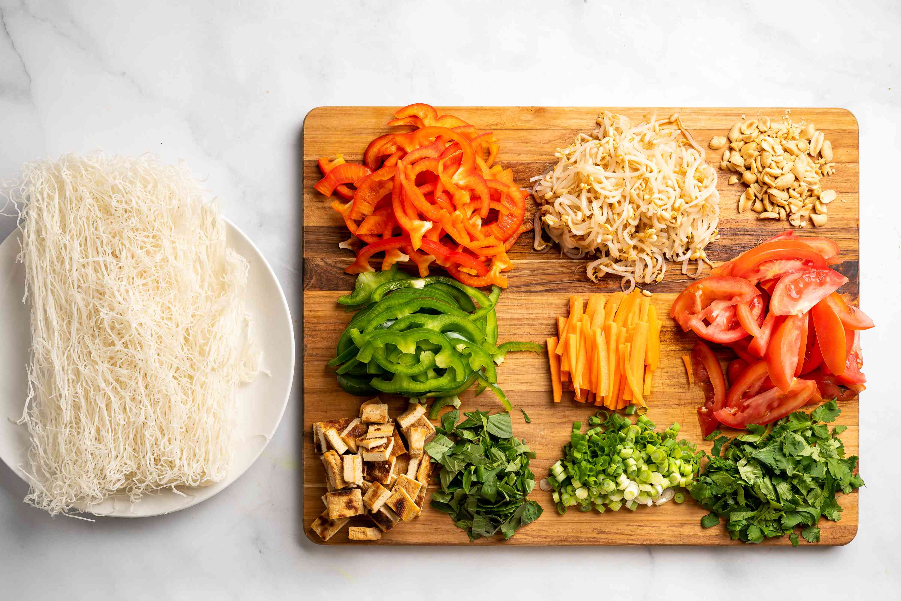 Thai Rice Noodle Salad With Chili-Lime Vinaigrette ingredients for salad
