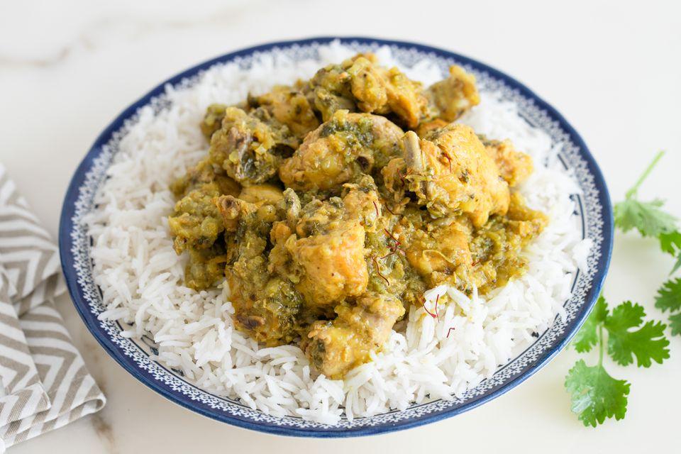 Moroccan saffron chicken recipe