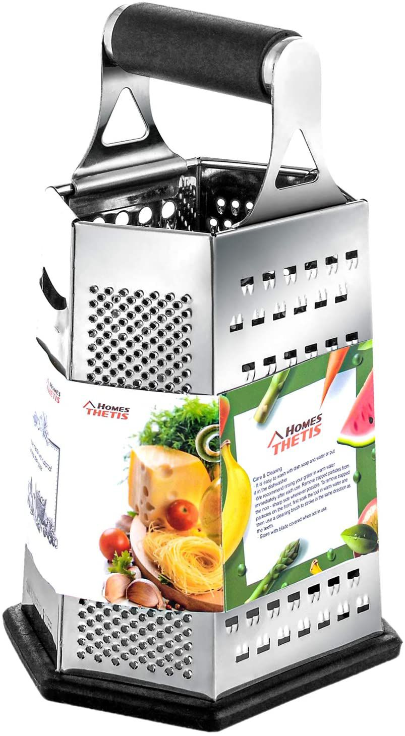 THETIS Home 6-Sided Kitchen Box Grater