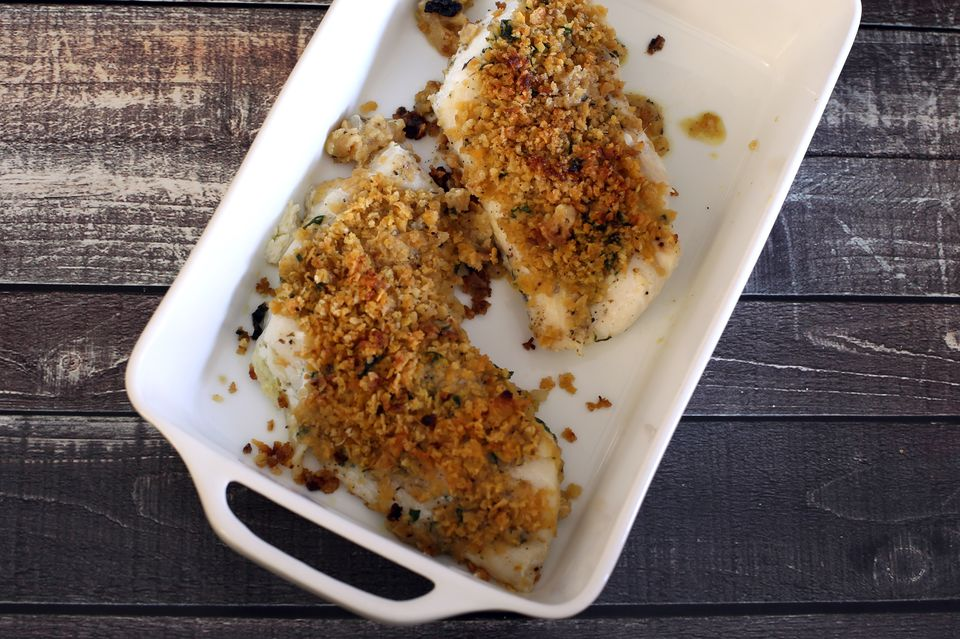 Corn flake crumb topped haddock fillets