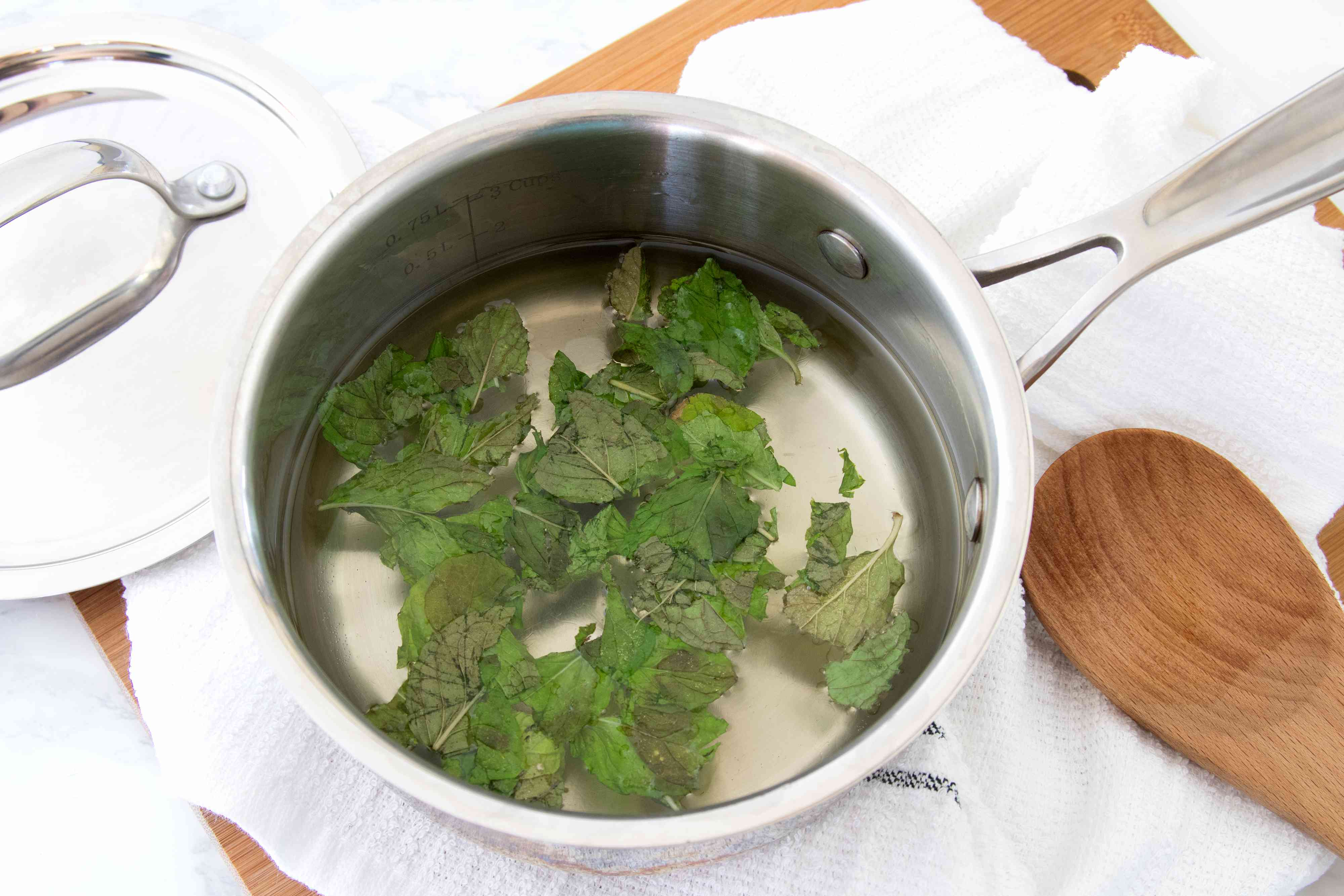 Making Mint Syrup for a Pitcher Mojito
