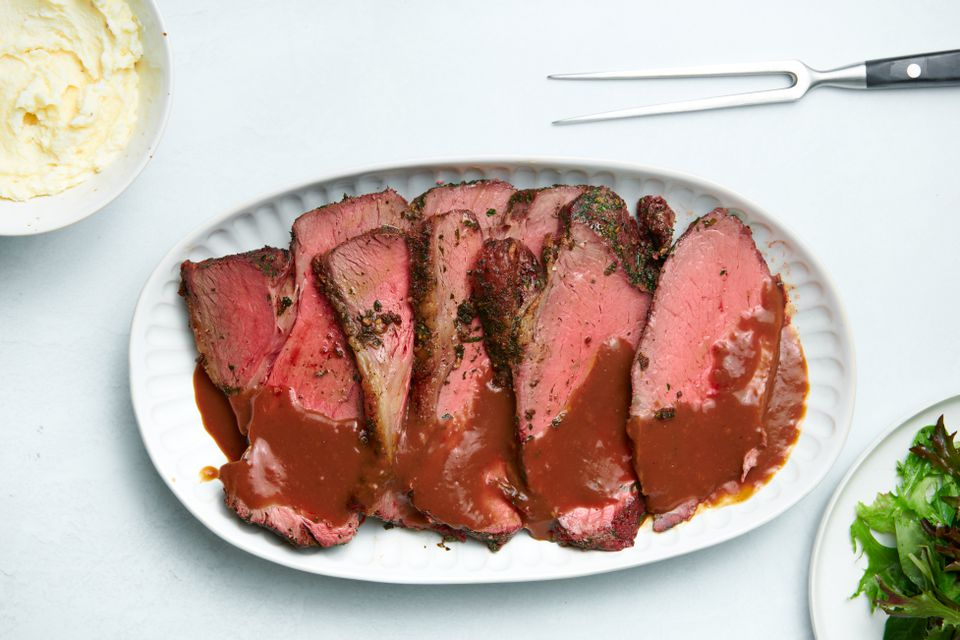 Pepper and Herb Crusted Sirloin Strip Roast