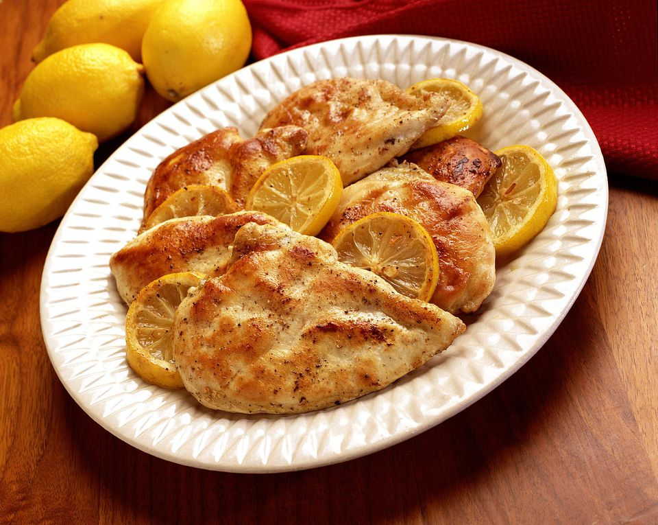 A plate of lemon pepper marinated chicken
