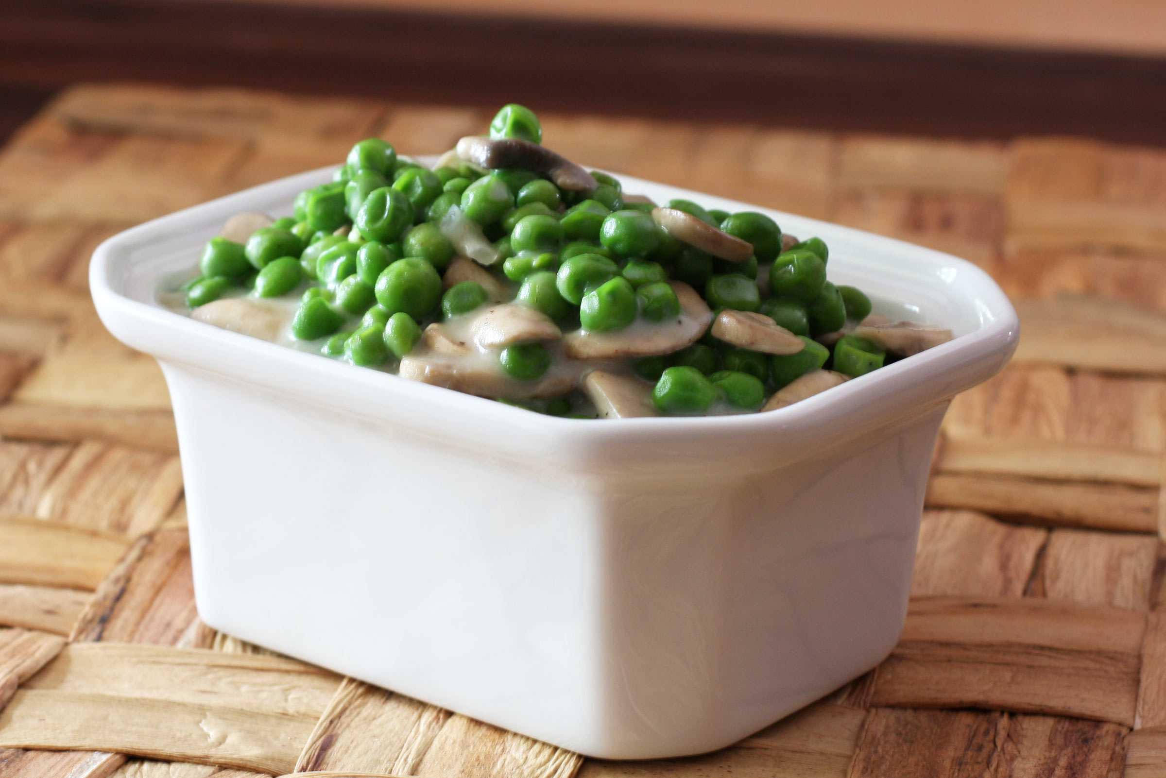 Creamed Peas with Mushrooms