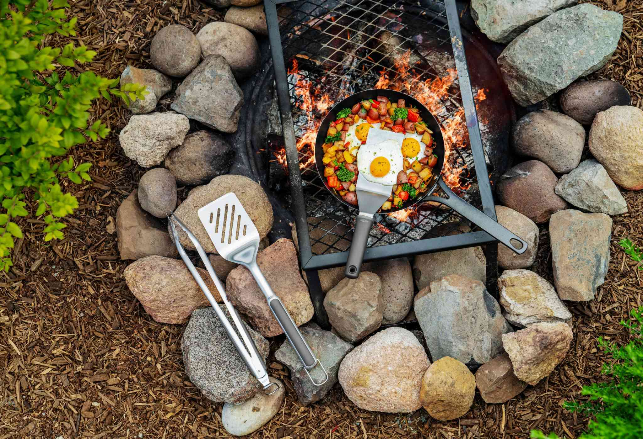 Oxo Outdoor items over a campfire