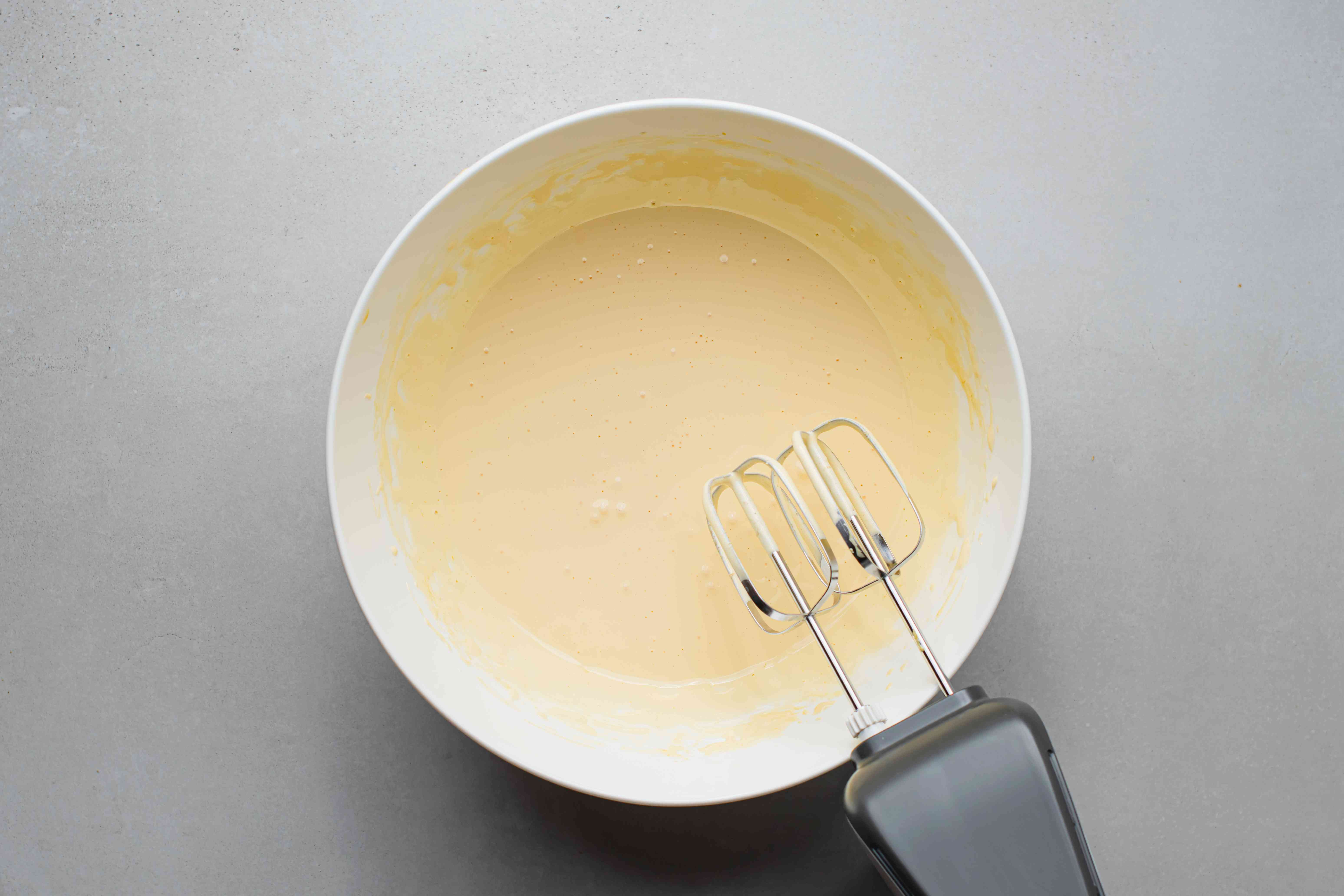 egg yolks and sugar beat together