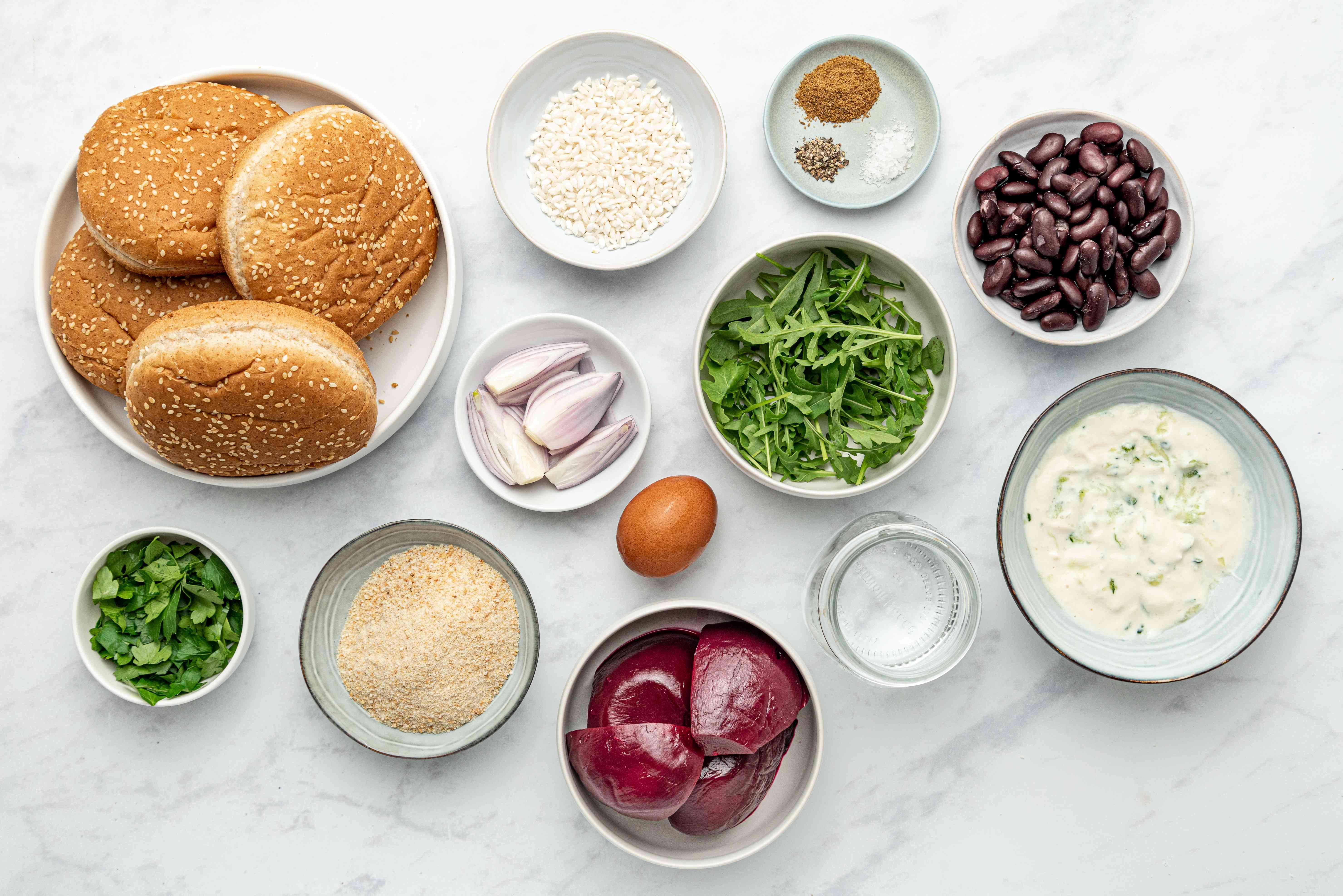 Beet Burger ingredients