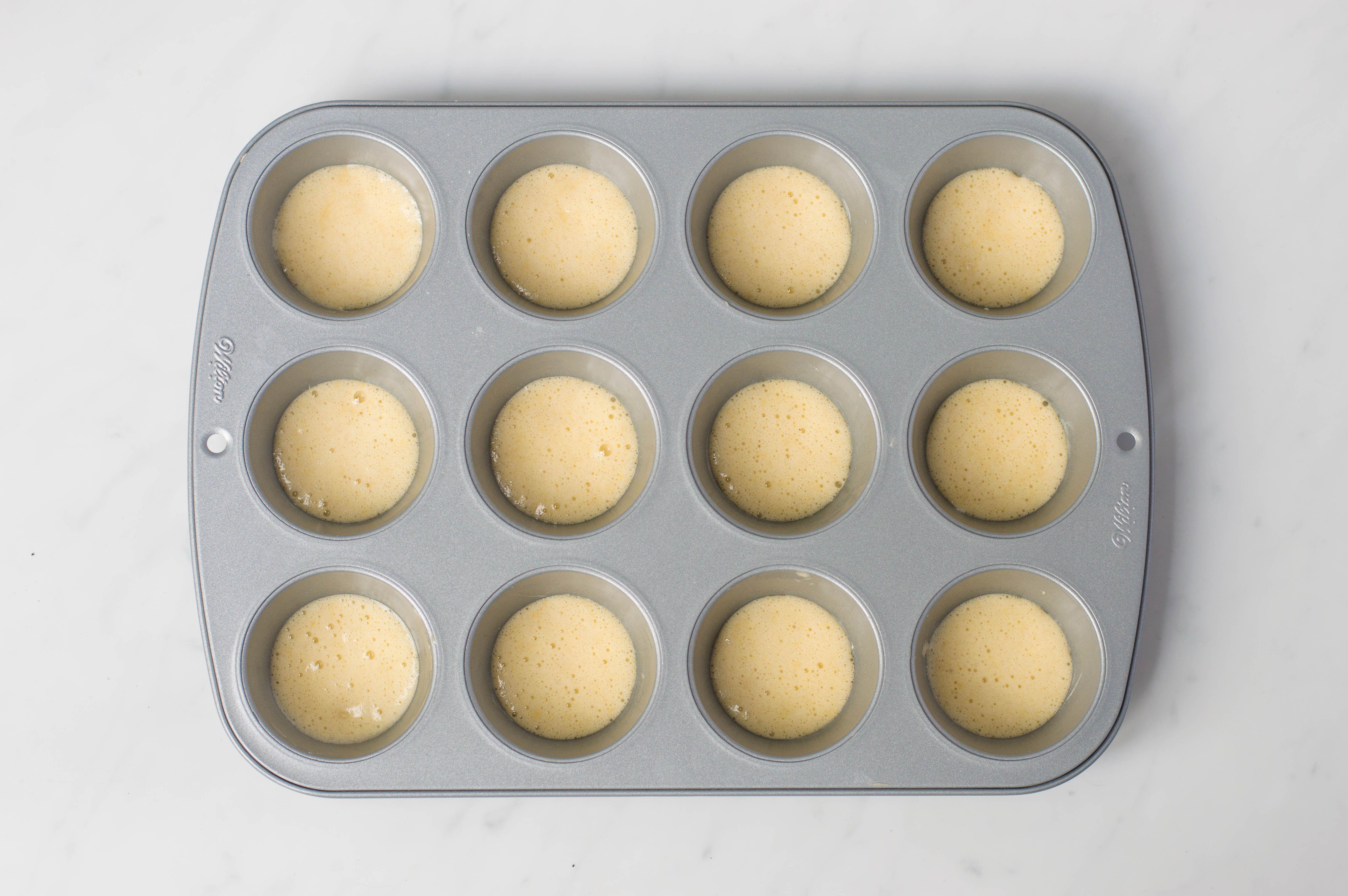 put mixture into bun tin