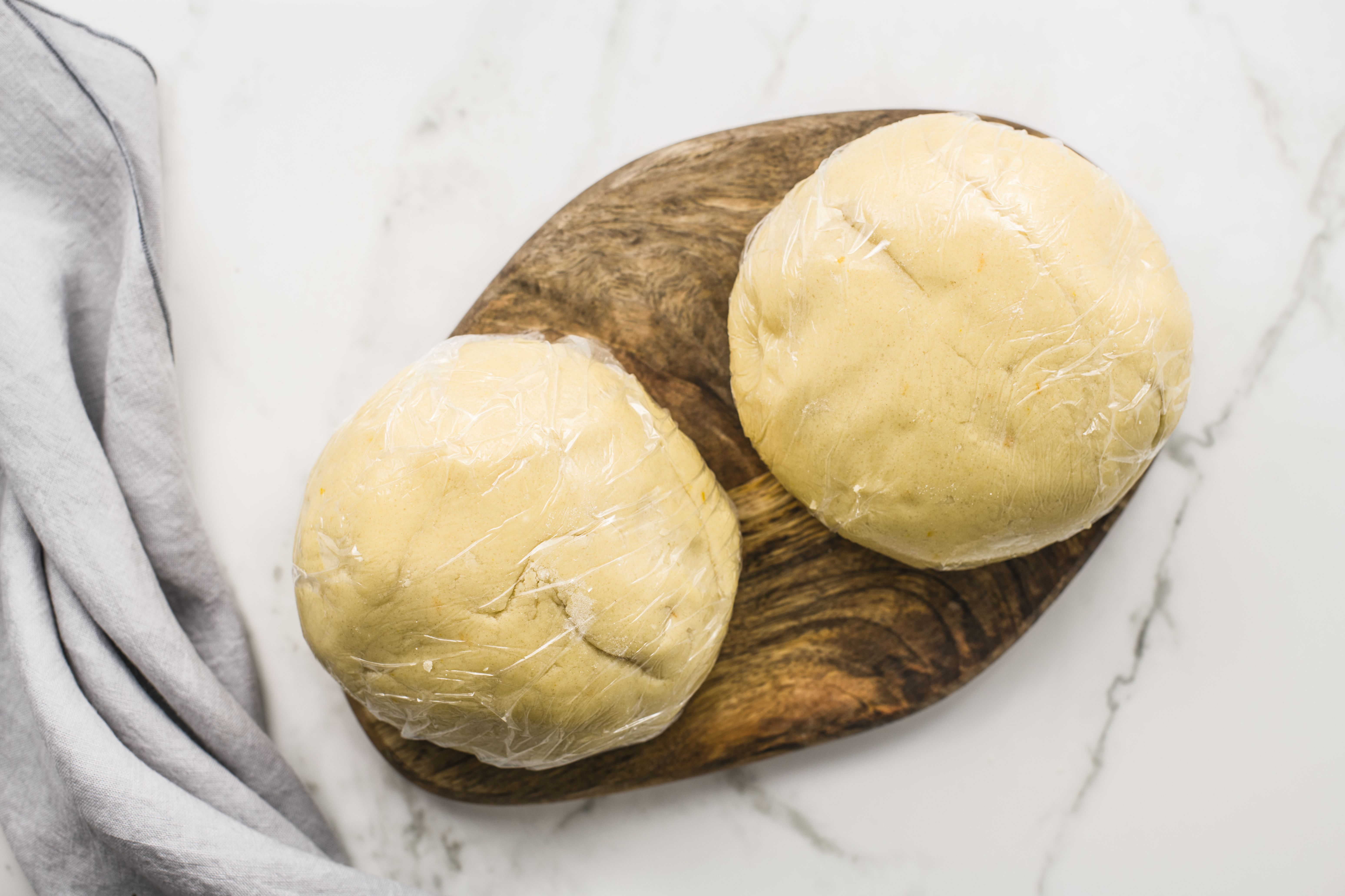 Diving the dough in half