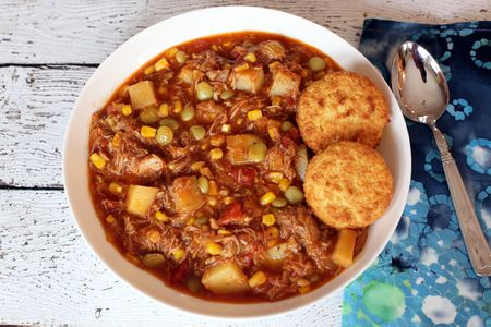 Brunswick Stew With Potatoes Corn And Lima Beans