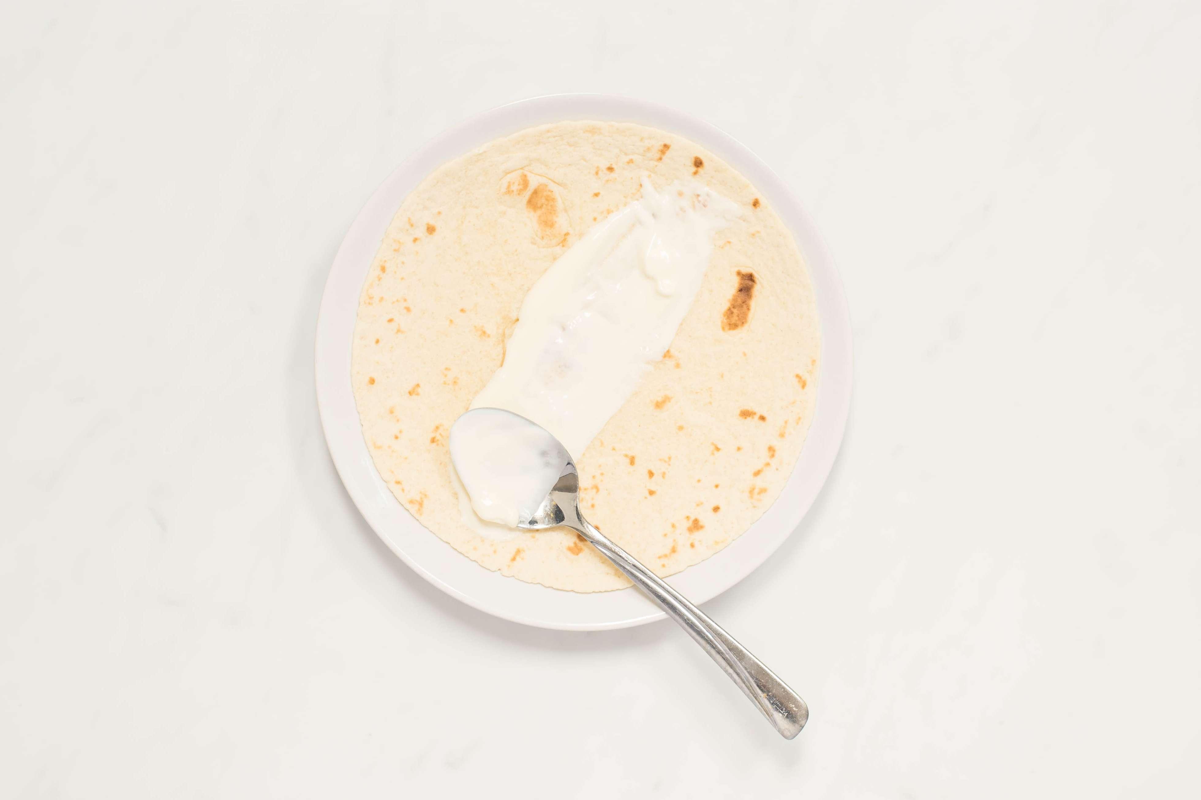 Spread sour cream