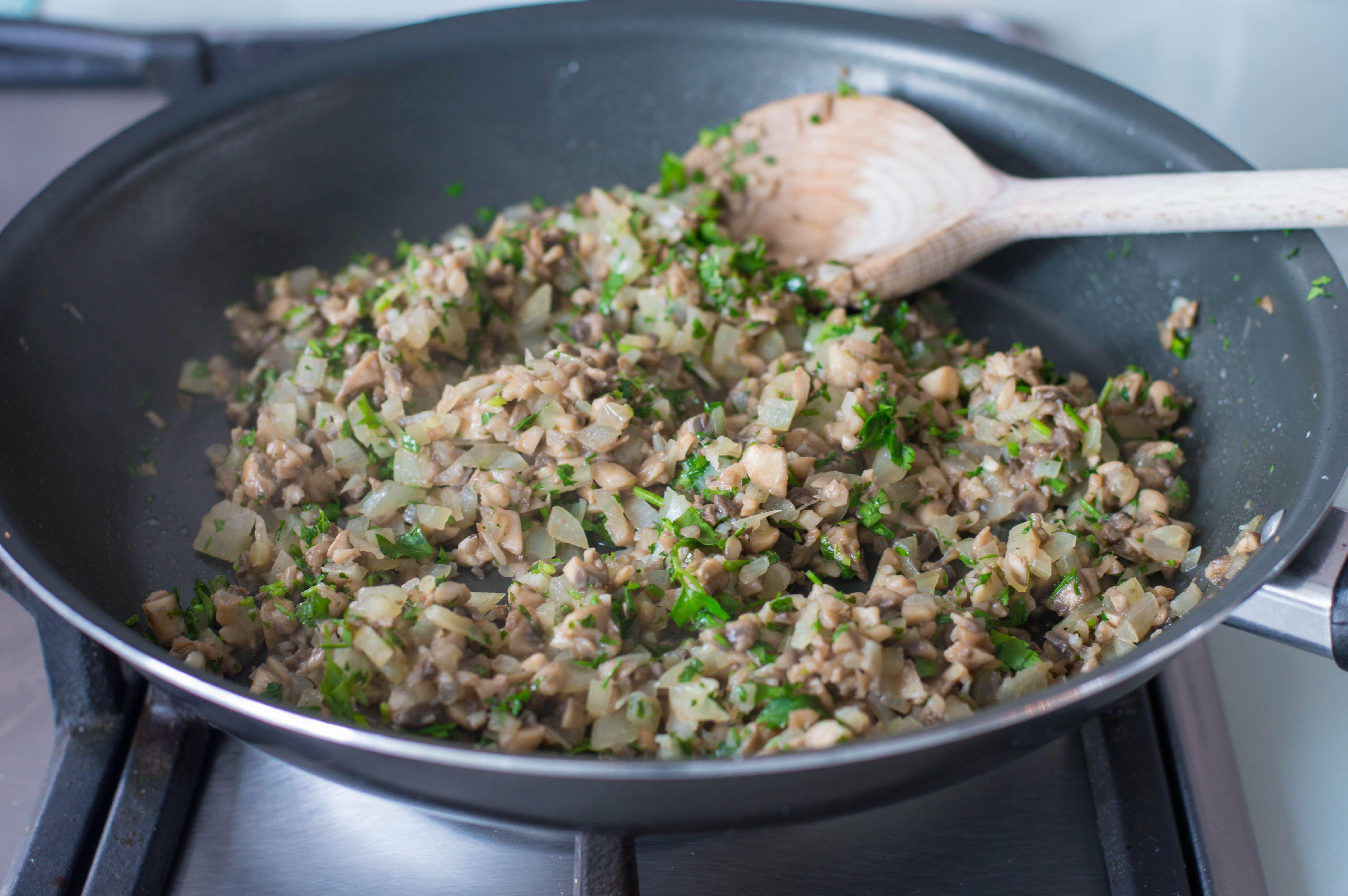 Stir in garlic and parsley