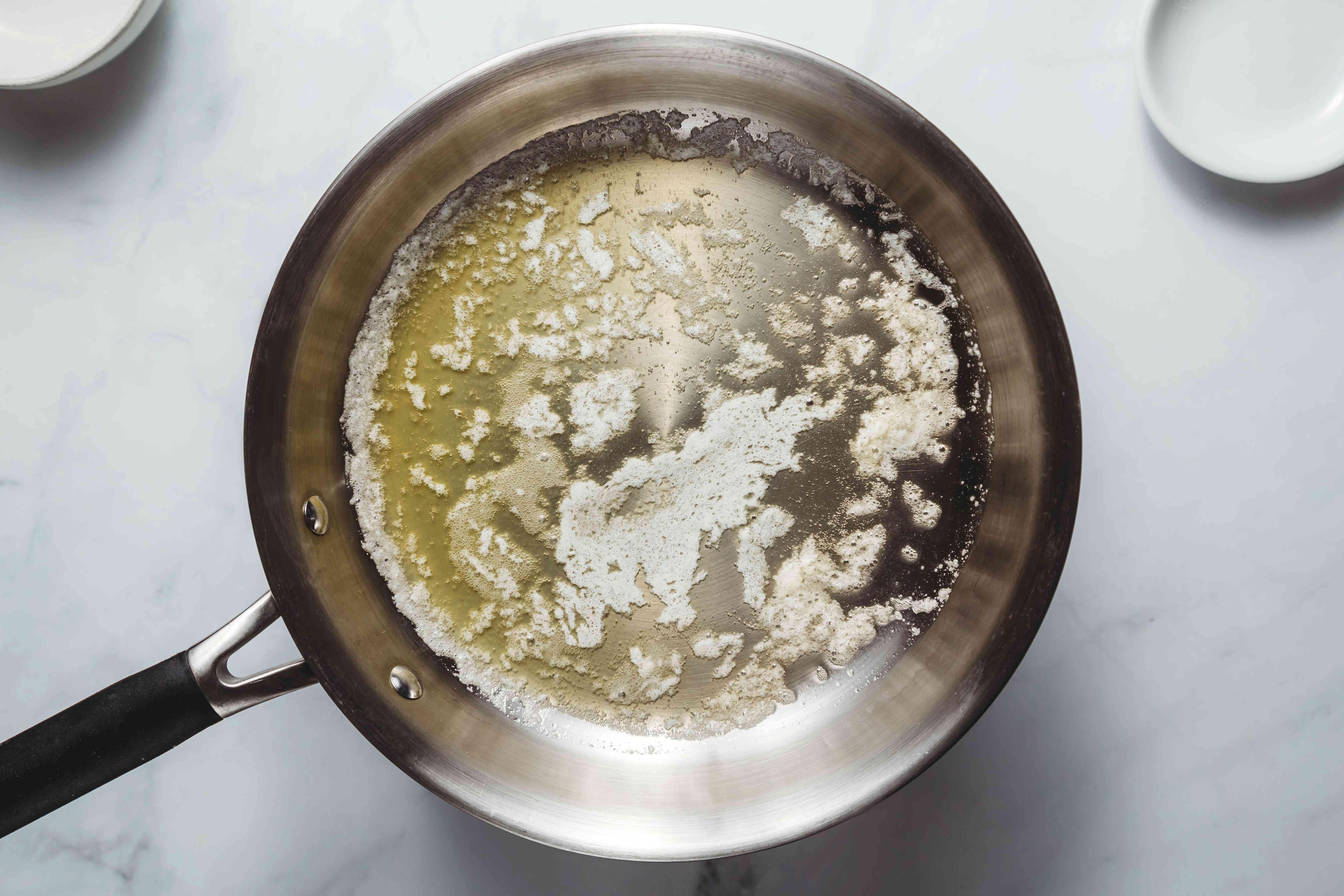 Butter in a saucepan