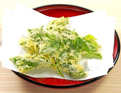 Sansai (Mountain Vegetables) Tempura with Matcha Salt