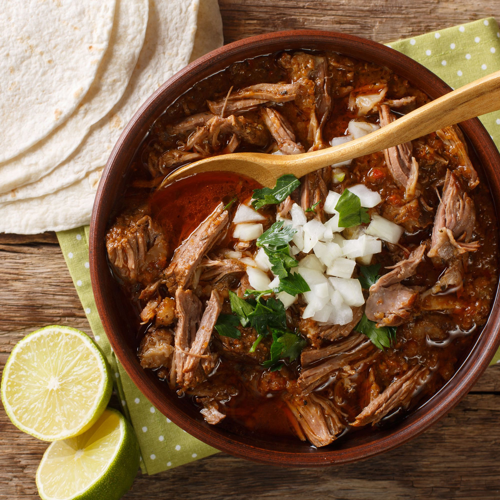 Slow Cooked Birria Authentic Mexican Beef Stew