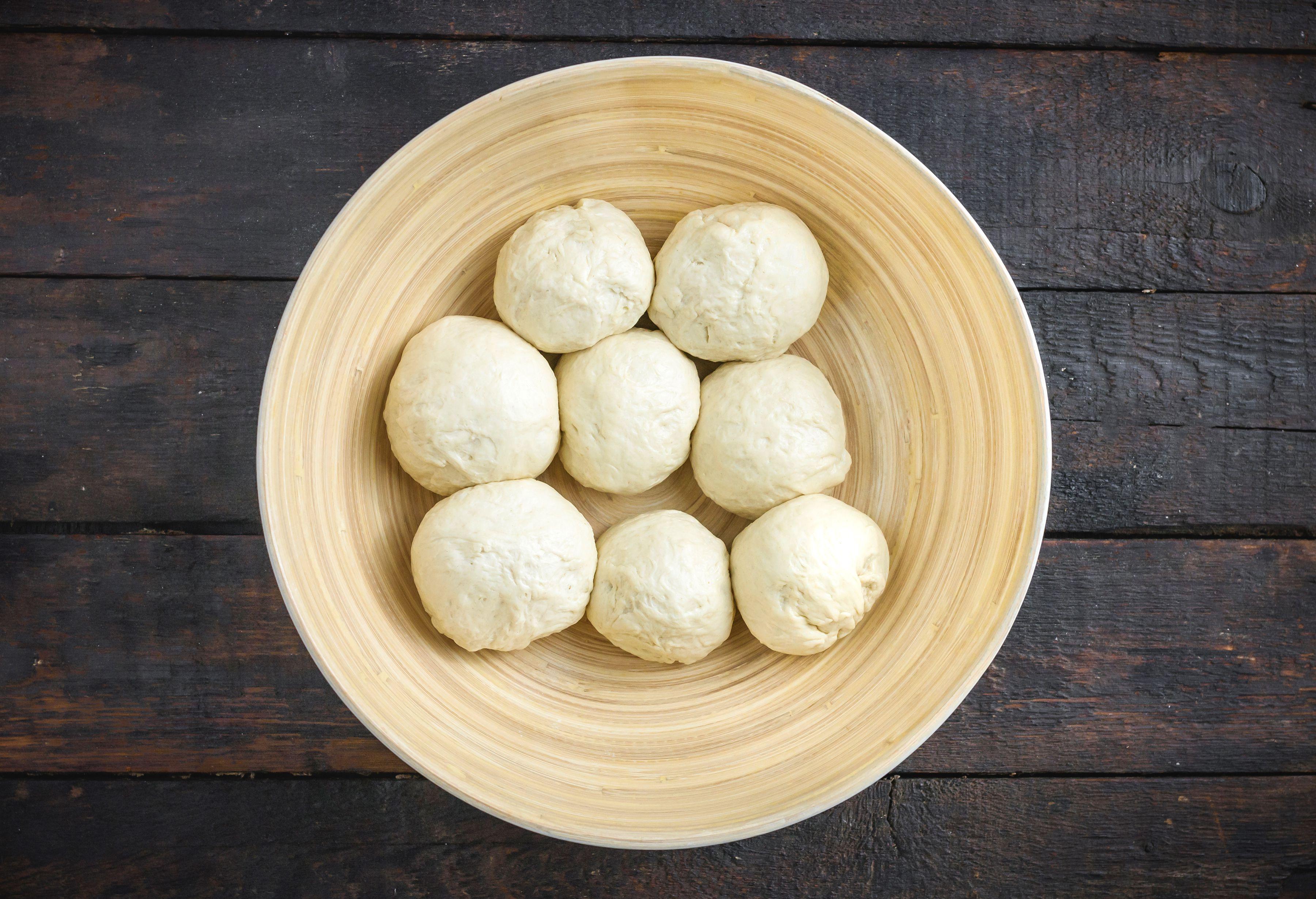 Divide dough into 8 balls