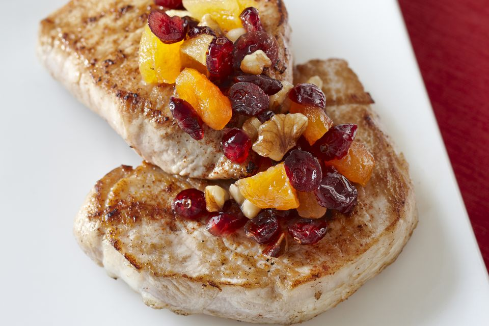 pork chops with cranberries and walnuts