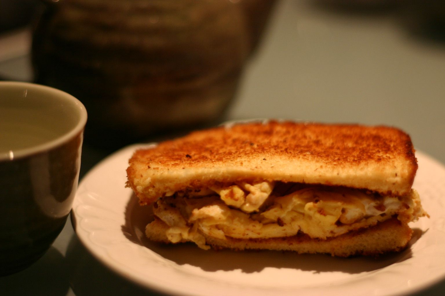 Korean Breakfast Egg Toast Sandwich
