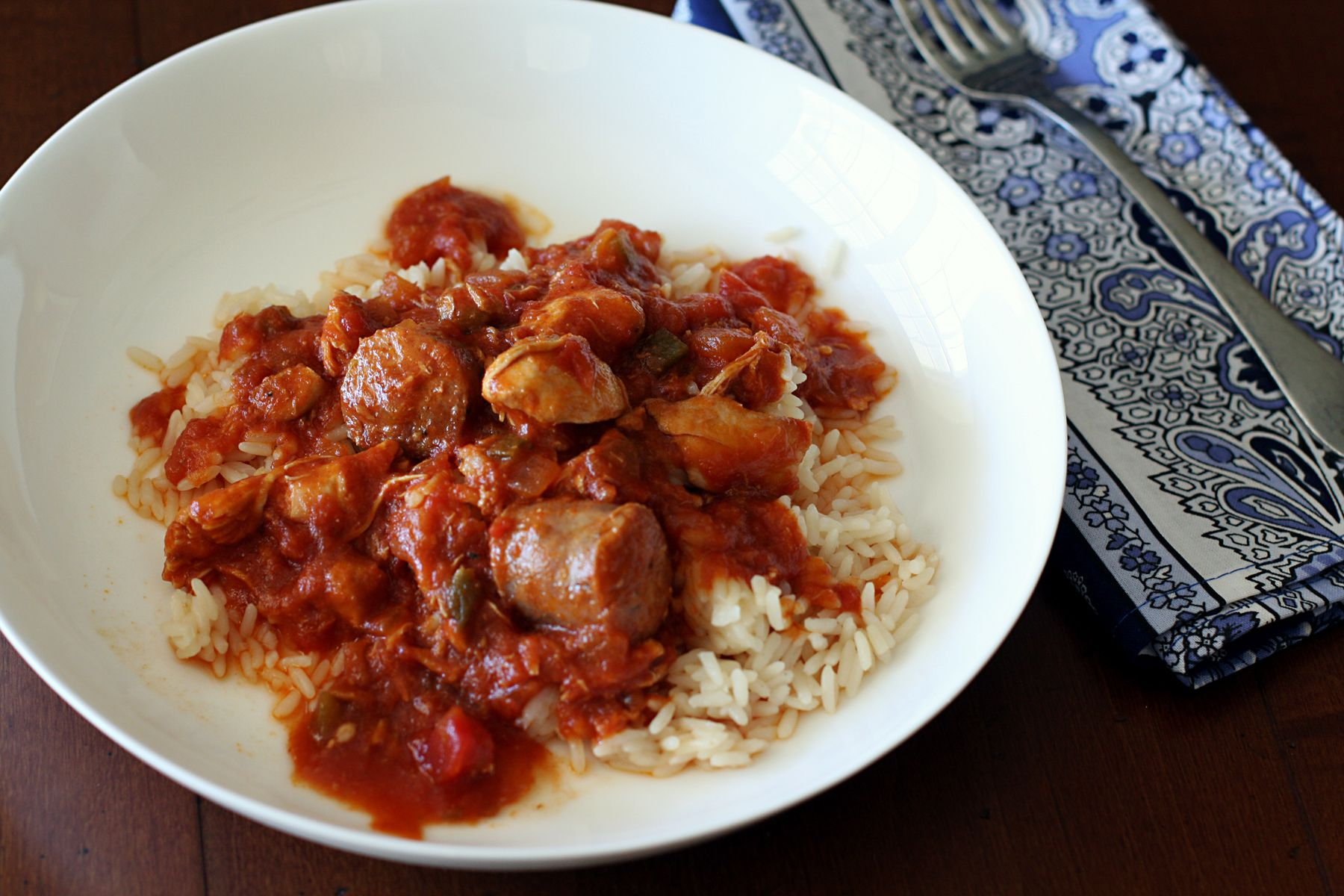 Slow Cooker Creole Chicken With Sausage