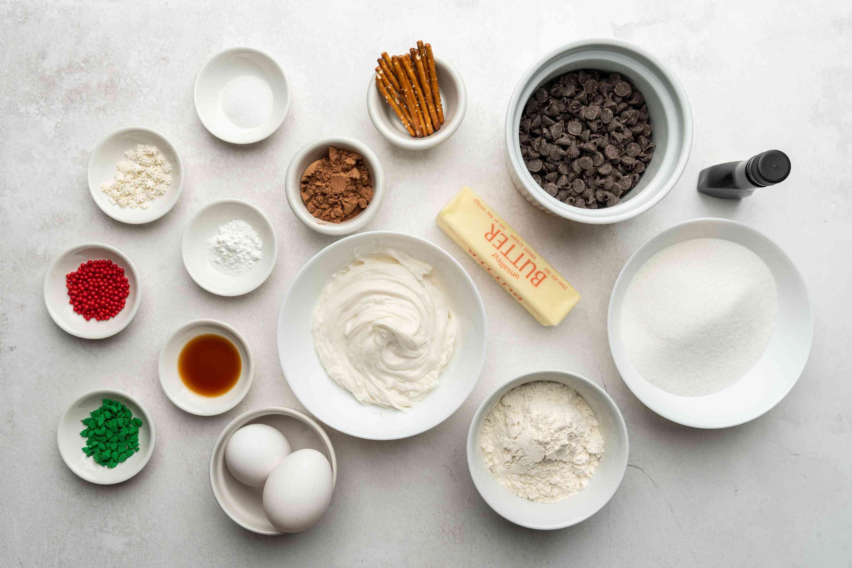 Christmas Tree Brownies ingredients
