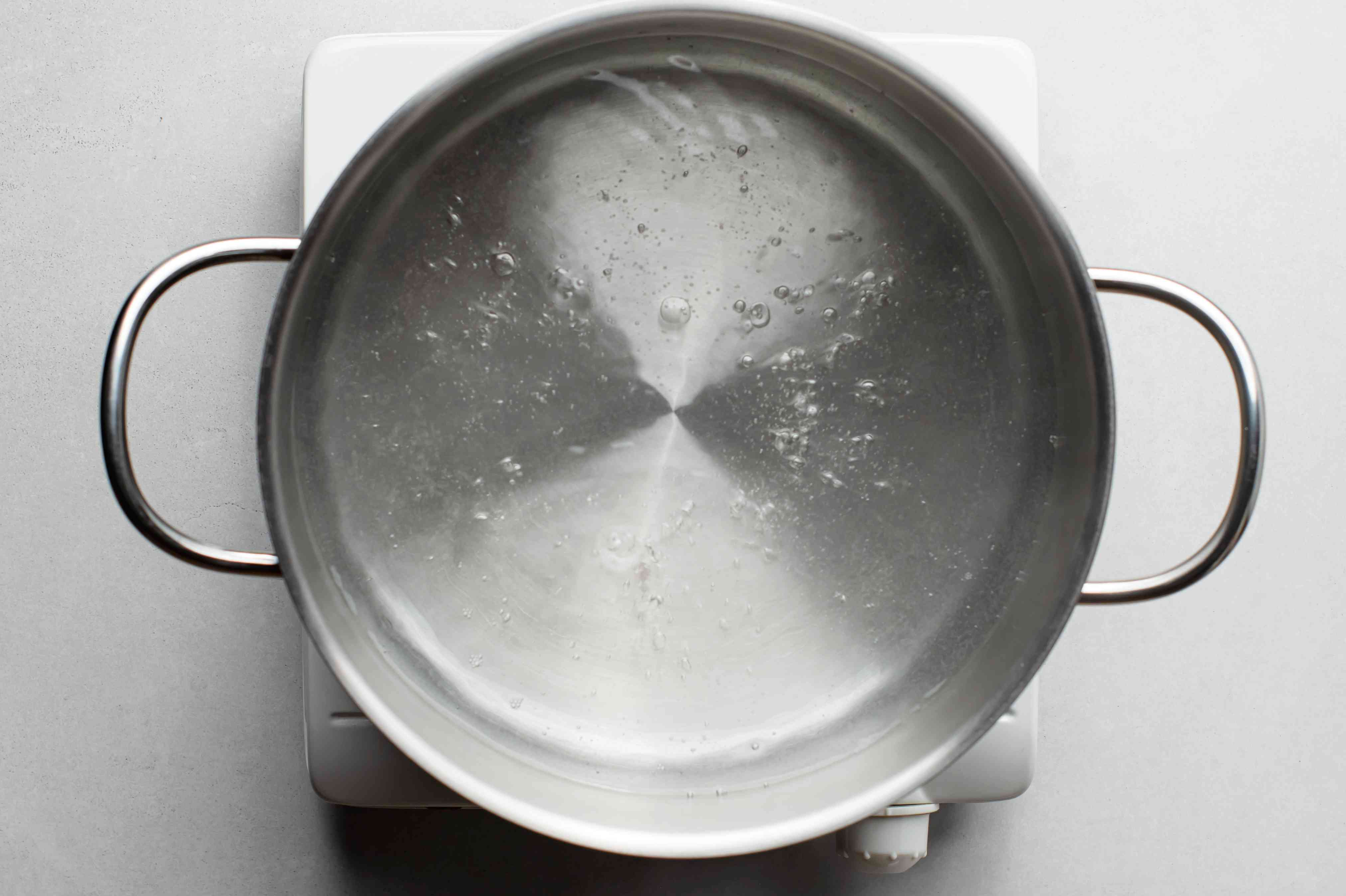 pot with boiling water