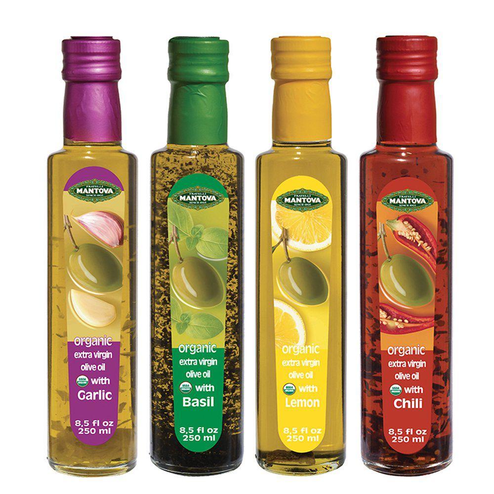 Mantova Flavored Extra Virgin Olive Oil Variety Pack