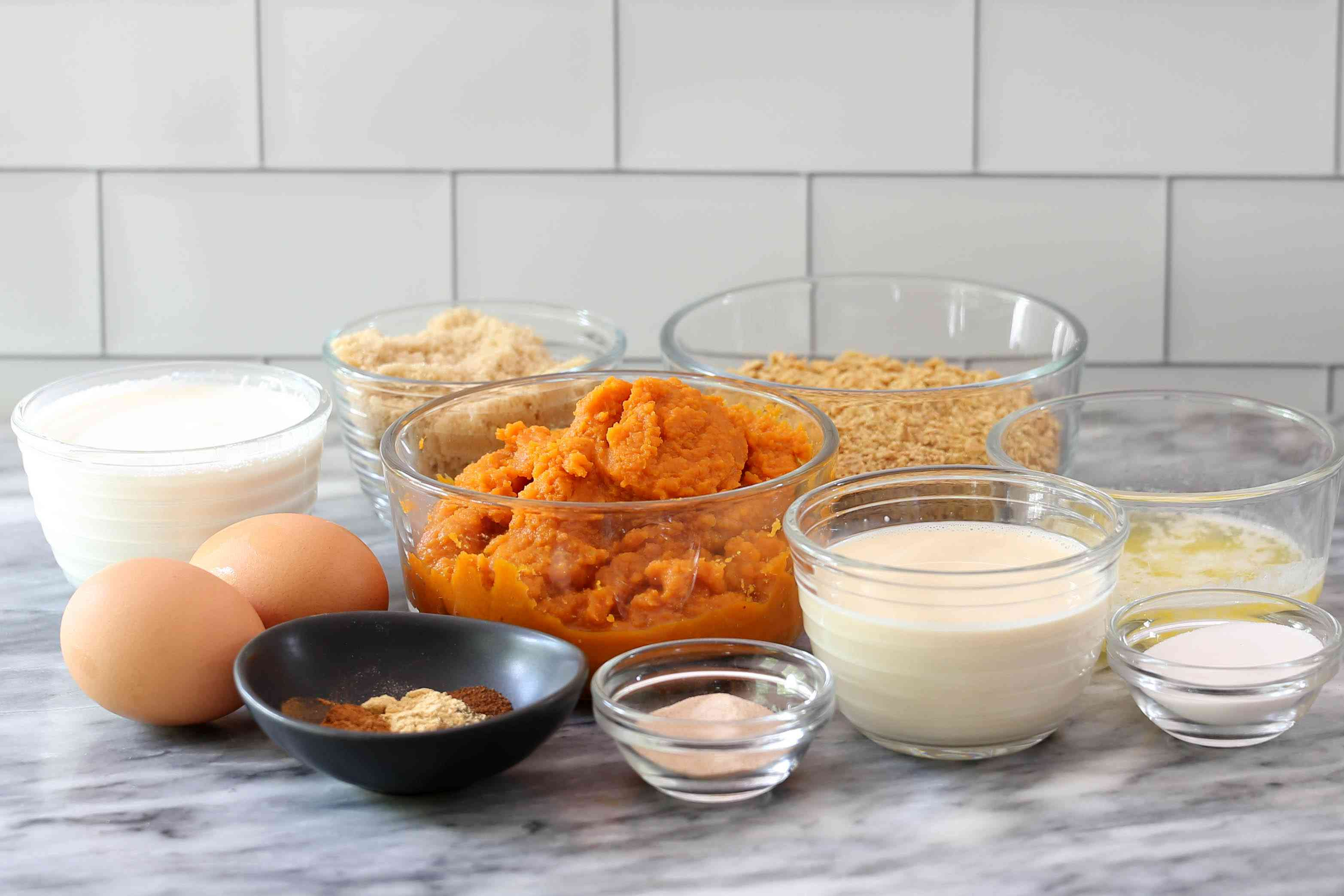 ingredients for instant pot pumpkin pie