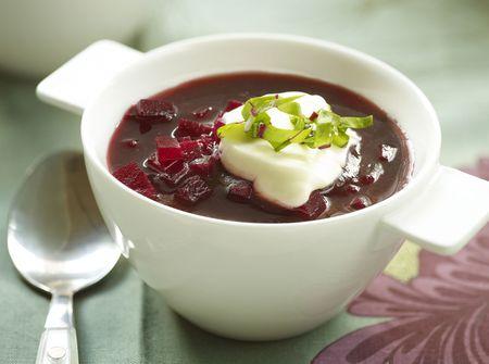 Ukrainian Meatless Beet Soup Borshch Recipe