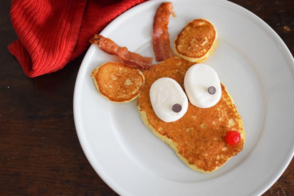 Rudolph reindeer pancakes