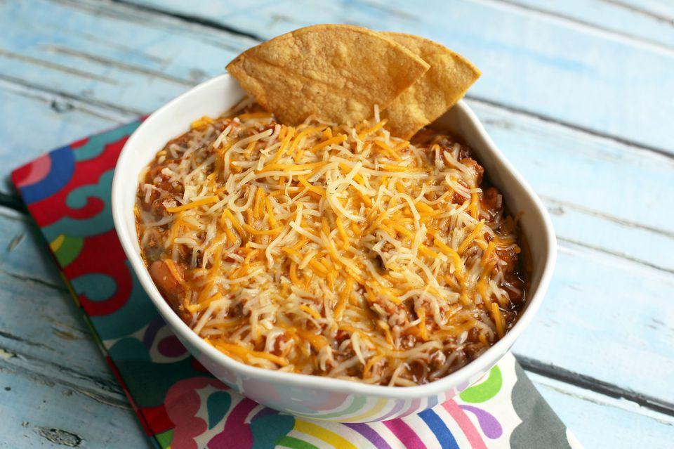 Salsa para tacos de queso y chile crockpot