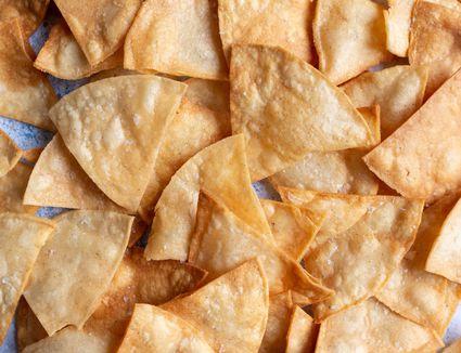 Homemade Totopos (Crunchy Corn Tortilla Chips)