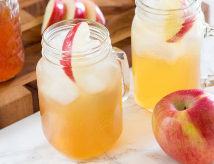 Homemade Apple Soda With Fresh Apple Juice