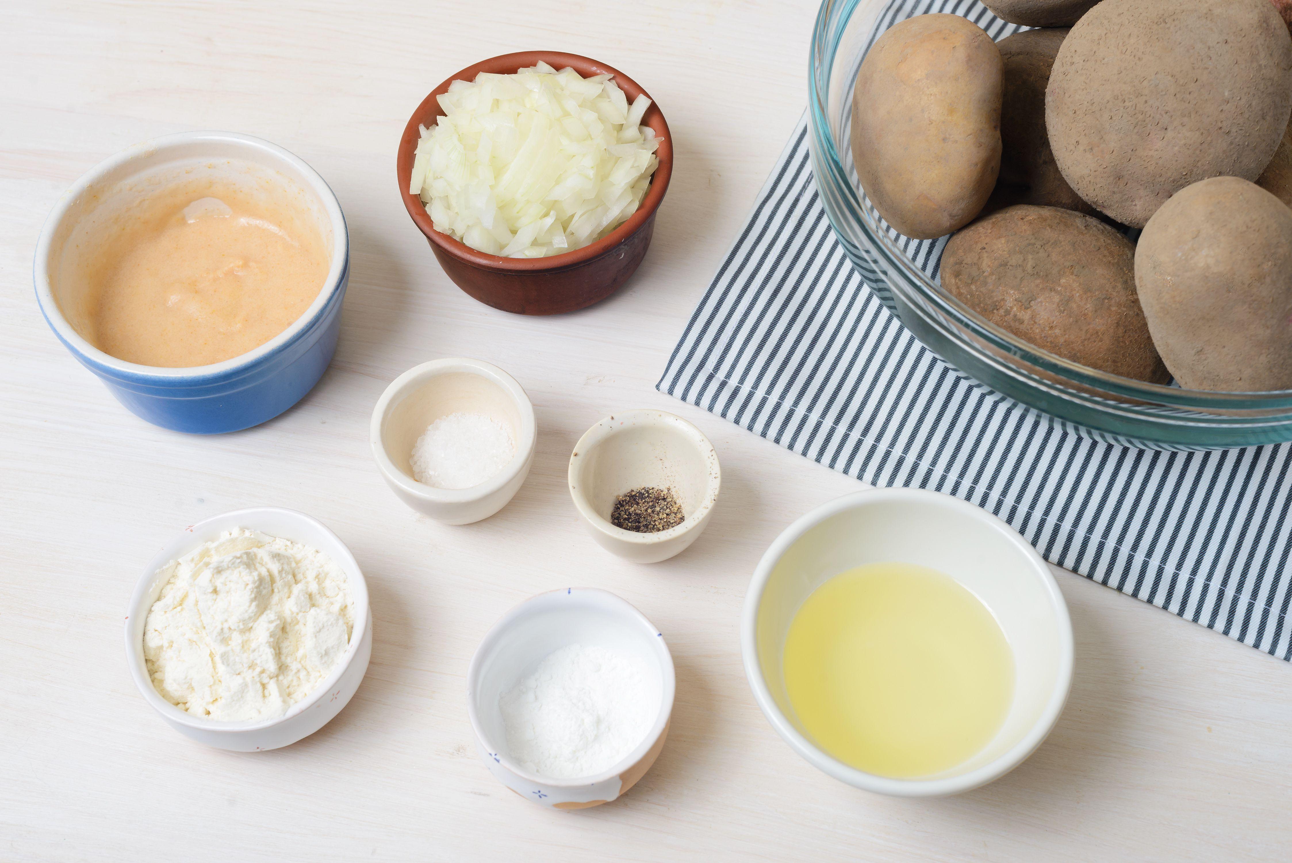 Ingredients for latkes