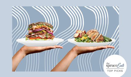 Photo composite of a sandwich and a salad