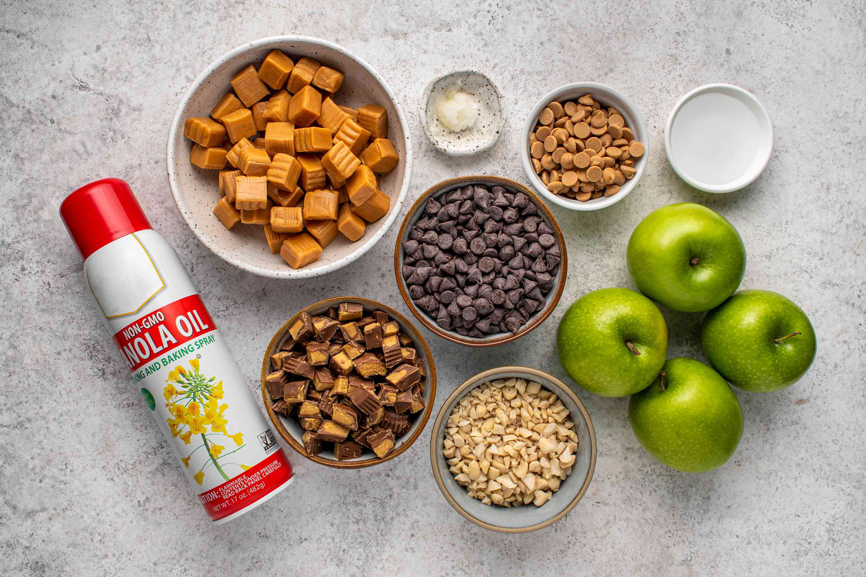 Peanut Butter Caramel Apples ingredients