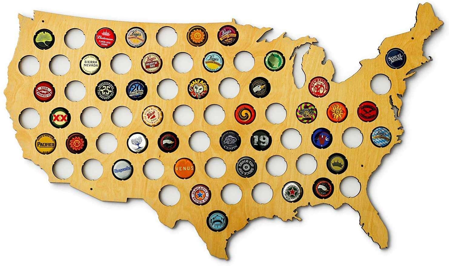Skyline Workshop United States of America Beer Cap Map
